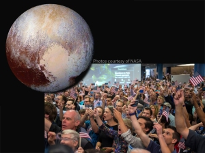 pluto, new horizons team celebrate