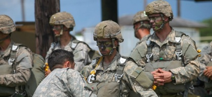 Soldiers on the Ranger Course at Camp Rudder on Eglin Air Force Base, Fla., Aug. 6, 2015. 1st Lts. Kristen Griest and Shaye Haver will graduate Aug. 21, 2015 as Rangers. (U.S. ARMY PHOTO BY PFC. YVETTE ZABALA-GARRIGA)